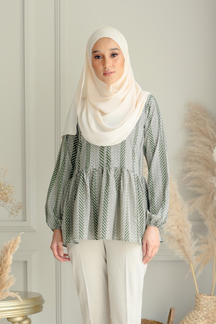 Veri Blouse In Green Tea
