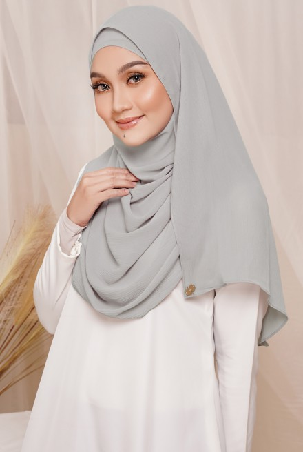 Sadia Long Shawl in Grey