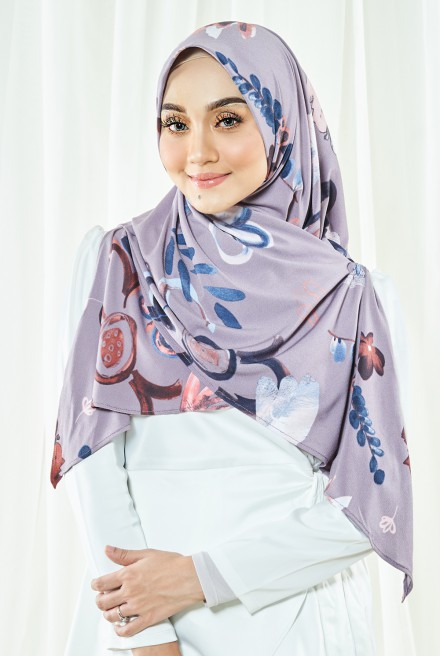 Luna Printed Bawal in Lavender Love
