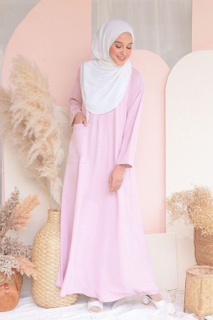 Baju Klawa Basic In Pale Rose