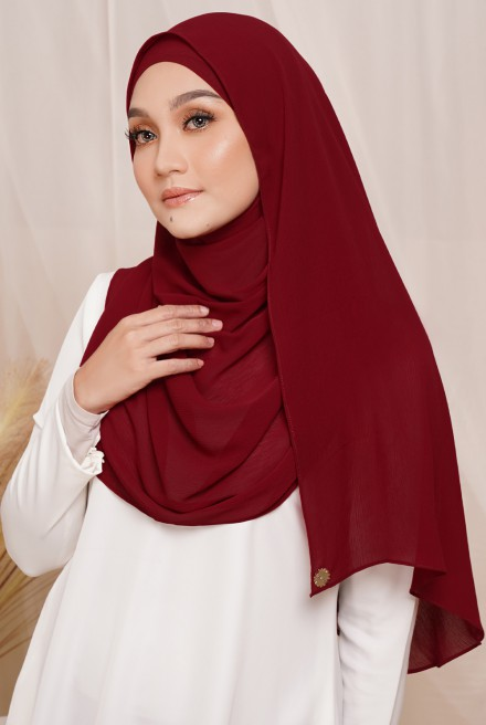 Sadia Long Shawl in Maroon