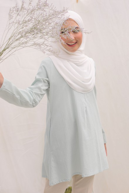RUMI Blouse in Mint Blue