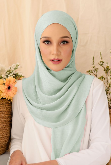 Nour Long Shawl In Mint Green