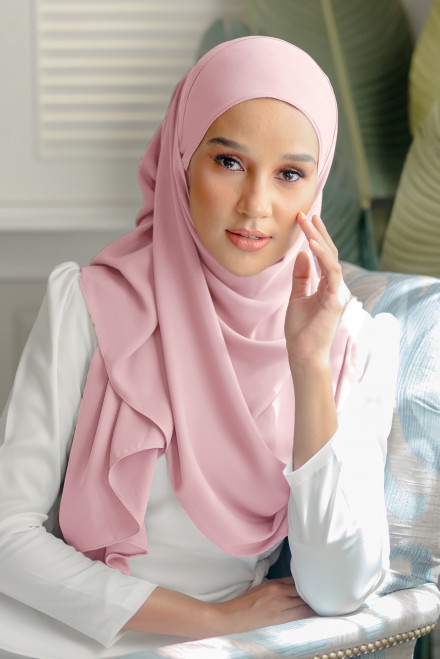 Pikat Long Shawl in Misty Rose