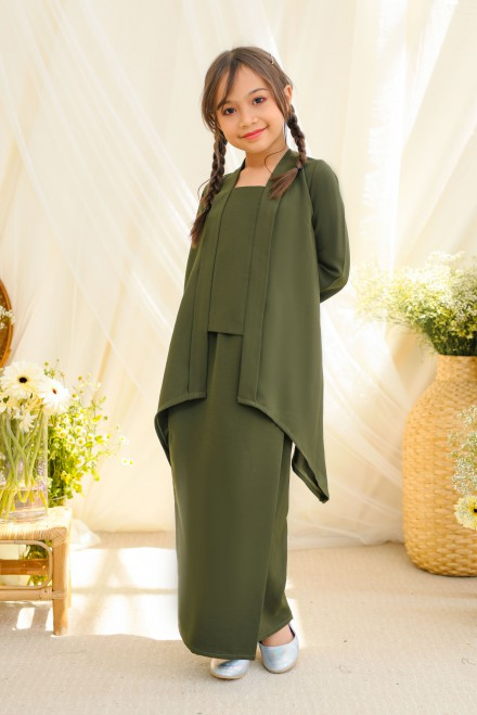Adiwarna Kebaya Girl  In Dark Olive