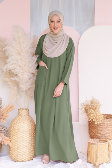 Baju Klawa Basic In Olive