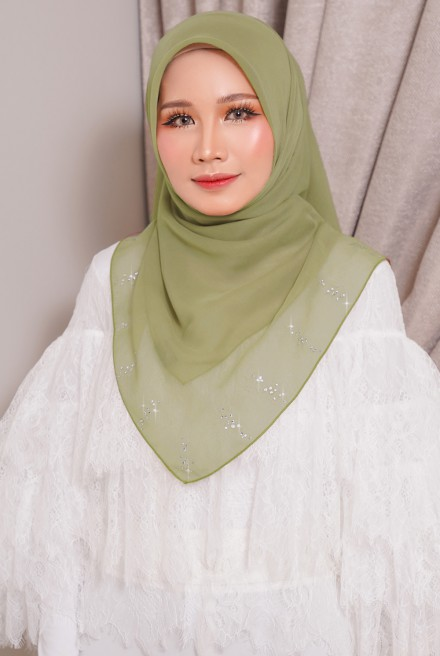 Myla Luxe Bawal Olive Green