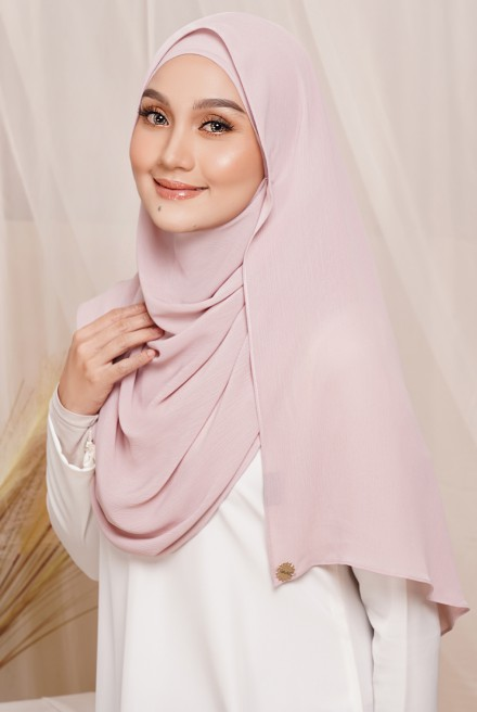 Sadia Long Shawl in Pale Rose
