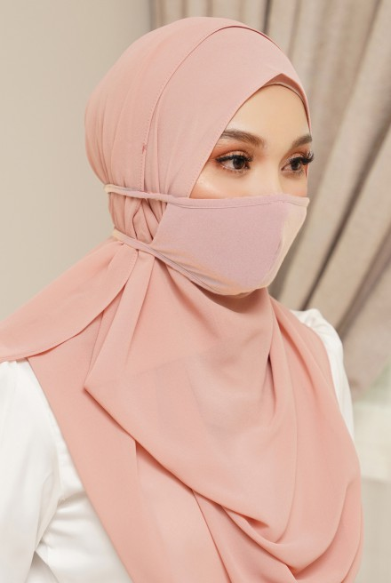 Lora Face Mask in Pale Pink