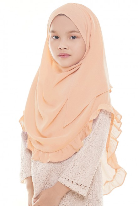 Darda Ruffle Kids in Peach