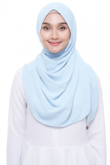 (AS-IS) Sadia Long Shawl in Baby Blue
