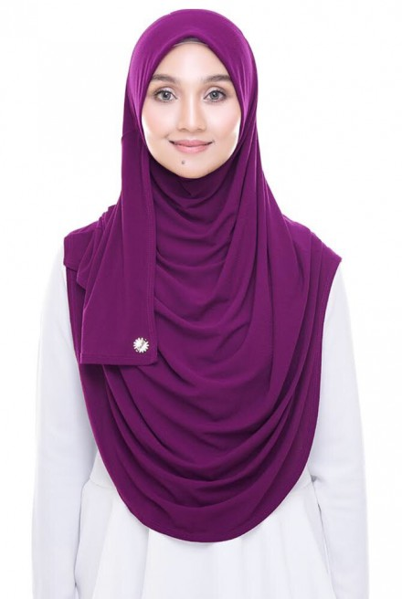 (AS-IS) Rizqaa Full Instant in Plum