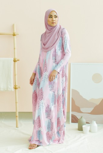Nayera Dress in Pink Candy