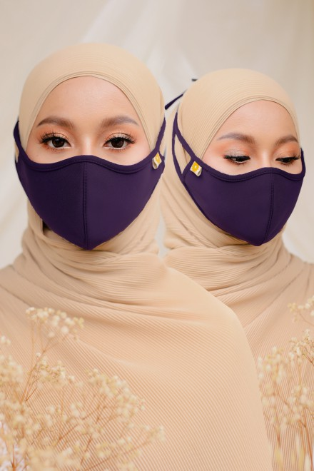 Airy Face Mask in Purple (2 pack)