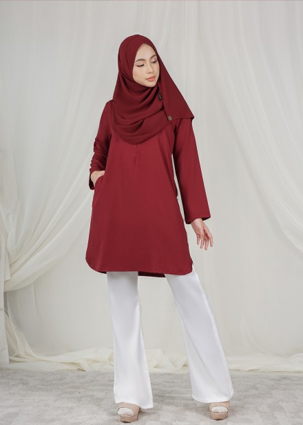 Dian Tunic In Red