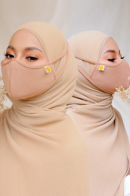 Airy Face Mask in Sand (2 pack)