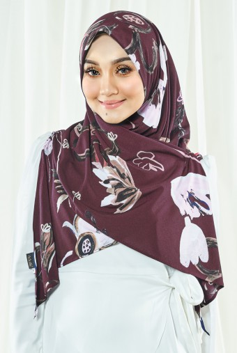 Luna Printed Bawal in Scarlett Red