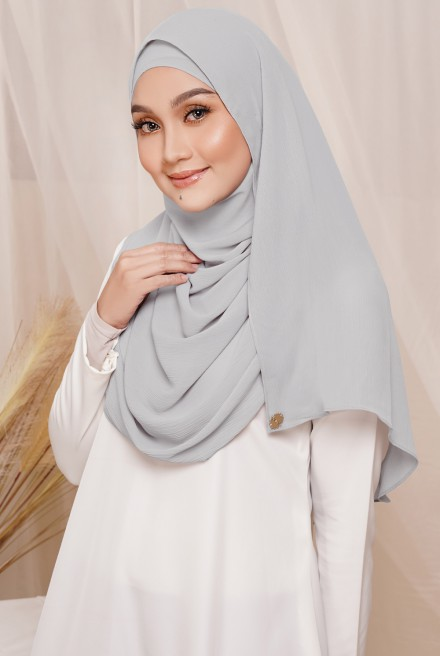 Sadia Long Shawl in Silver