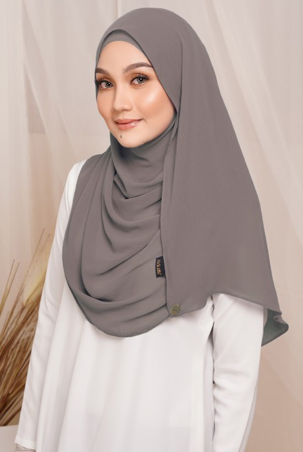 Sadia Long Shawl in Smokey
