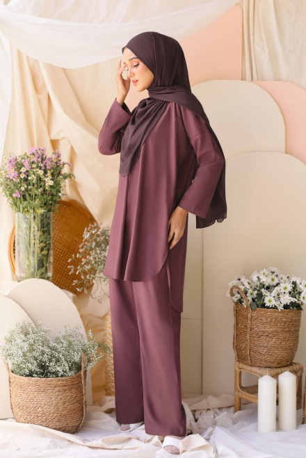 Atma Suit In Smokey Purple