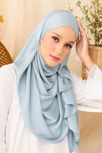 Nour Long Shawl In Soft Blue