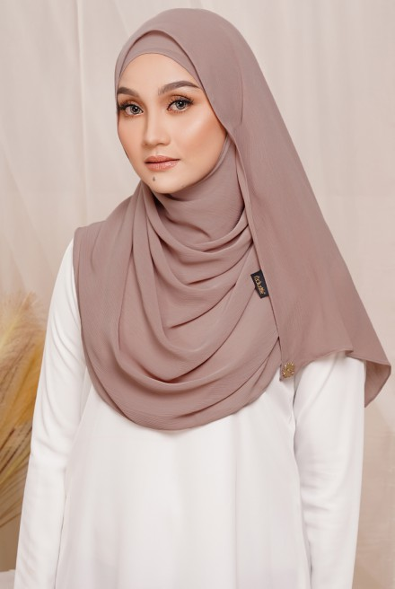 Sadia Long Shawl in Tan