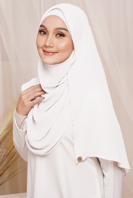 Sadia Long Shawl in White