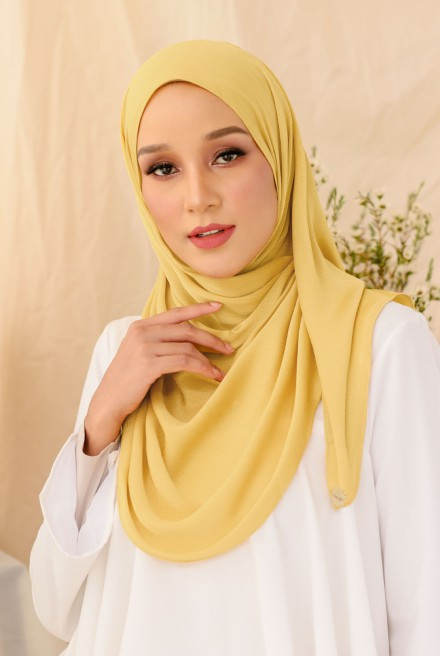 Nour Long Shawl In Yellow