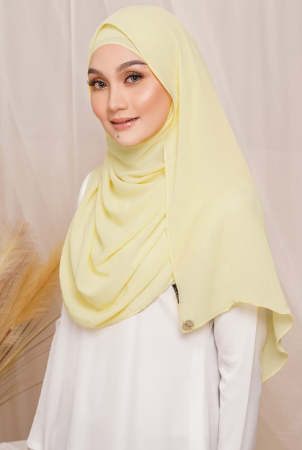 Sadia Long Shawl in Yellow
